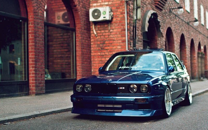 beautiful, automobile, blue, e30, stance, m3, bmw, walls, Car, desktop, 1920x1080, wallpapers