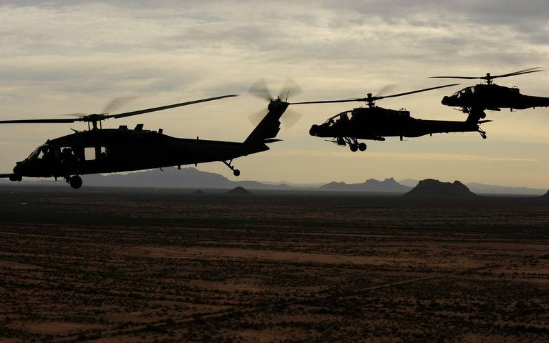 usa army, Uh-60 black hawk, ah-64 apache