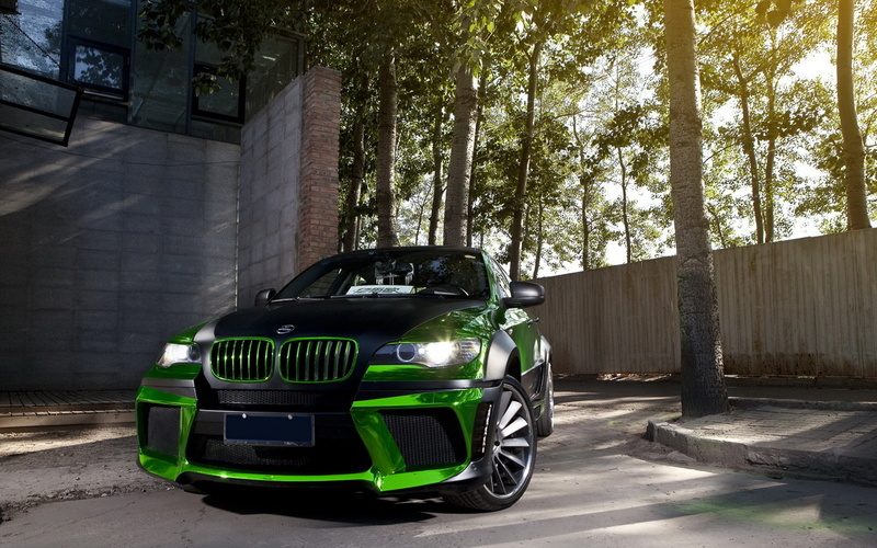 бмв, Bmw, тюнинг, передок, m, chrome, green, x6, tuning