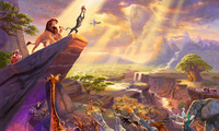 король лев, живопись, painting, thomas kinkade, The lion king