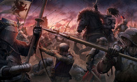 knights, kerem beyit, the middle ages, medieval style, the battle of sunset ...
