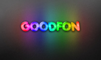 Goodfon, радуга, rainbow, background, надпись, неон, фон, neon