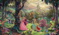 walt disney, art, animated film, painting, thomas kinkade, Sleeping beauty
