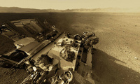 mountain, curiosity, Nasa, mars