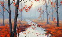 artsaus, рисунок, calm autumn day, Арт