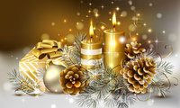 delicate, candles, beauty, box, colors, christmas, Ball, gold, cool, beauti ...