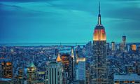 new york, city, empire state bulding, нью йорк, нью-йорк, Город, ночь