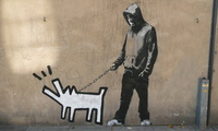 haring dog, Graffiti, banksy
