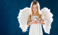 angel, candle, wings, child, девушка, children, cute, sadness, , Girl, анге ...