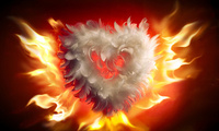 heart, flames, ������, ������, �����, �����, Fire, valentines day, love