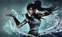 глаза, девушка, avatar the legend of korra, ninjatic, вода, Арт, korra