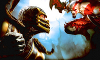 scorpion, , Mortal kombat, kratos, fighting