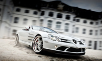 mercedes-benz slr roadster mclaren, Brabus exclusive sport program, white a ...