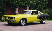 плимут, Plymouth, hemi, cuda, куда, muscle car, yellow black, 1971, чёрно