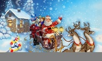 merry christmas, snow, Santa claus is coming, reindeer, new year, house, ch ...