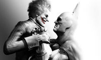 Batman arkham city, joker, batman, джокер