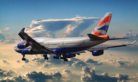 Boeing, аэропорт, british airways, 747, самолет, пассажирский