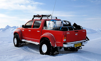 зима, северный полюс, arctic trucks, снег, north pole, red, hilux, Toyota