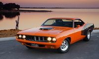 плимут, cuda, Plymouth barracuda, muscle car