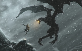 The elder scrolls, скайрим, dragon, skyrim, довакин, дракон