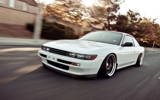Nissan, stance, tuning, nation, car, speed, silvia, style, white, s13, jdm, автомобиль