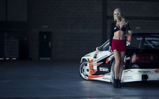 garage, , гараж, girl, Mazda, rx7, девушка, мазда