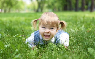 park, child, childhood, smiling, children, grass, Stylish little girl, happiness