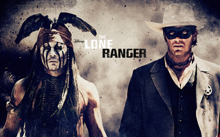 The lone ranger, одинокий рейнджер, johnny depp, armie hammer, вестерн
