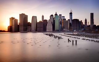 new york, brooklyn bridge, Dumbo, нью-йорк, город, ny, us, небоскребы