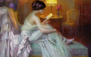 light., Девушка, delphin enjolras, reading, вечер, lamp, лампа, чтение