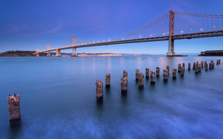 Usa, california, city, сша, калифорния, san francisco, bay bridge