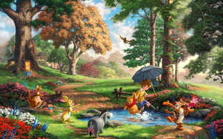 50-th anniversary, the disney dreams collection, winnie-the-pooh and all, Thomas kinkade