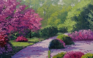 рисунок, path through the park, artsaus, Арт
