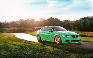 m3, солнце, Ind, s65, e92, небо, race car, bmw, green hell, front, бмв, coupe, блик